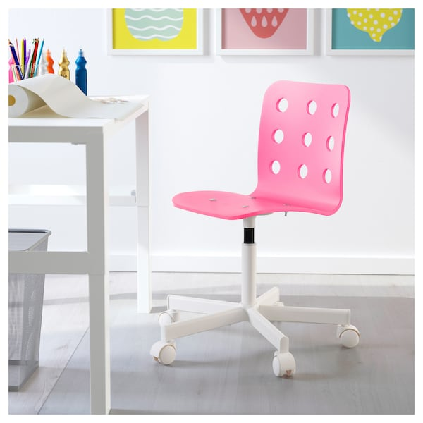 JULES Children's desk chair - pink, white - IKEA