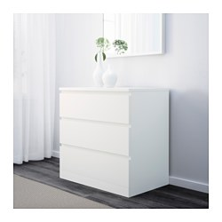 Malm 3 Drawer Chest White Ikea Family Member Price