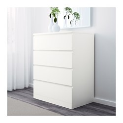 Malm 4 Drawer Chest White