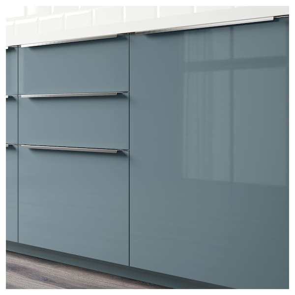 Front For Dishwasher Kallarp High Gloss Grey Turquoise