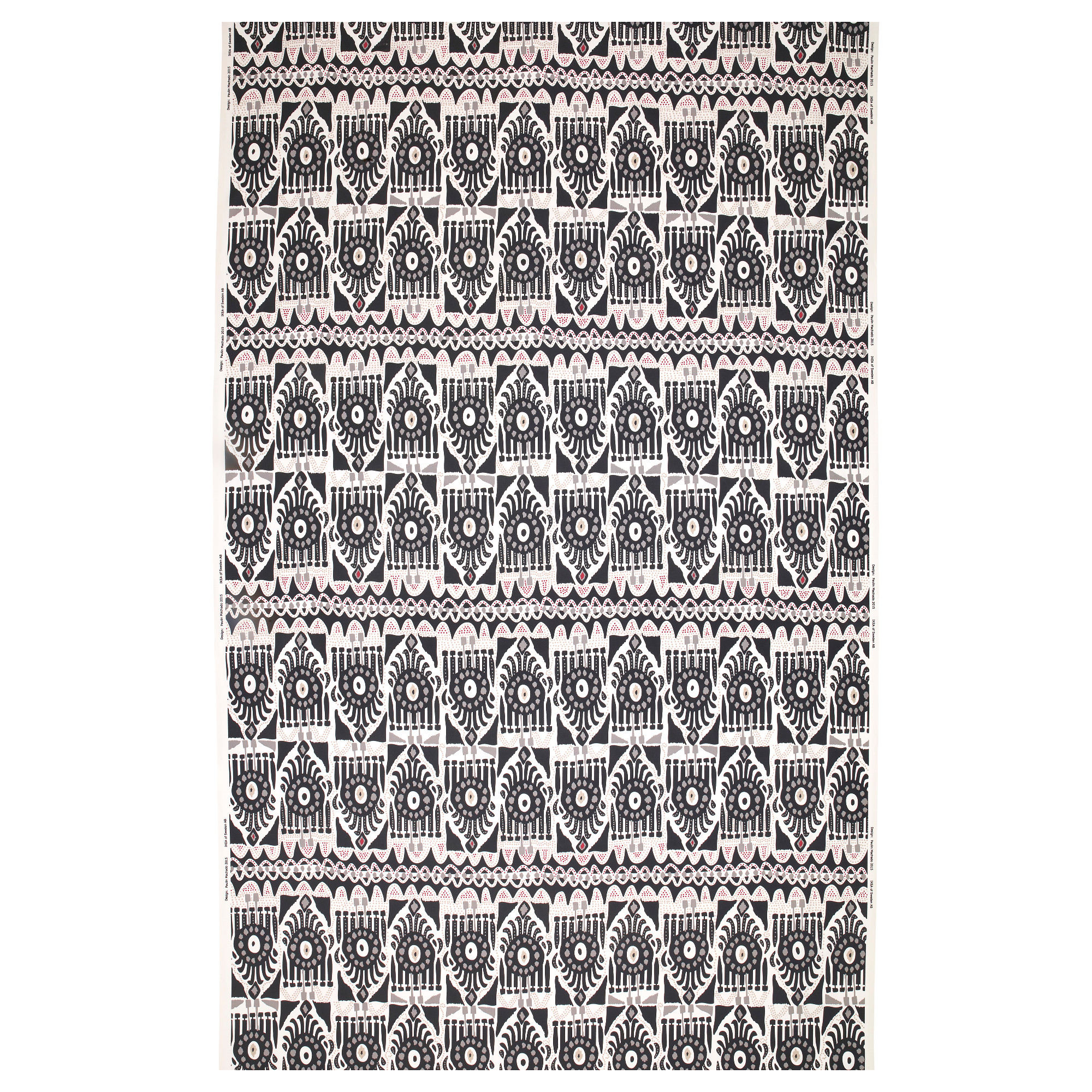 Ikea white curtains with red pattern - Sommar 2017 Fabric White Black Gray Weight 0 75 Oz Sq Ft