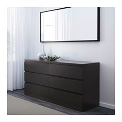 Malm 6 Drawer Dresser Black Brown Ikea Family Member Price