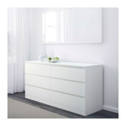 Malm 6 Drawer Dresser White