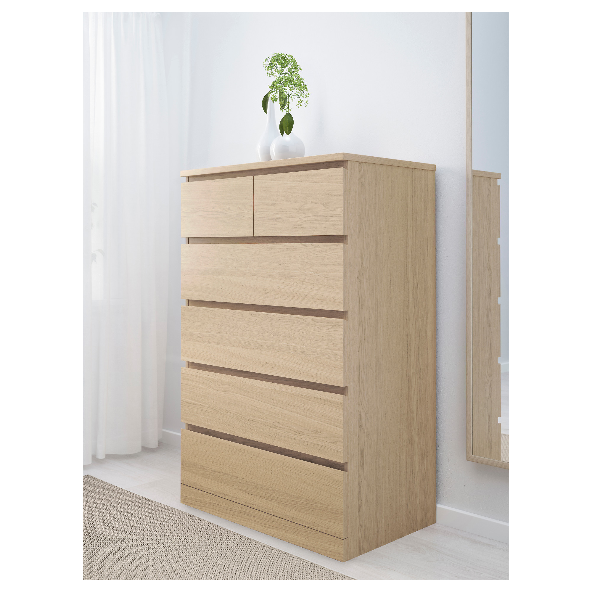 . MALM 6 drawer chest   white   IKEA