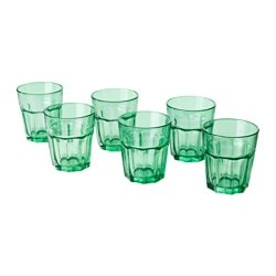 SOMMAR 2017 glass, green Height: 8 cm Volume: 27 cl Package quantity: 6 pack