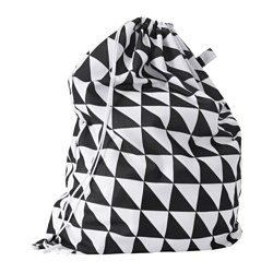 SNAJDA laundry bag, black/white Volume: 60 l