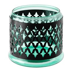 SOMMAR 2017 tealight holder/candle holder, green Height: 9.5 cm Diameter: 11 cm