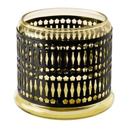 SOMMAR 2017 tealight holder/candle holder, yellow Height: 9.5 cm Diameter: 11 cm