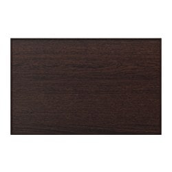 INVIKEN door/drawer front, black-brown veneer