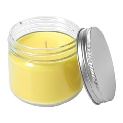 SOMMAR 2017 scented candle in glass, Summer citrus, yellow