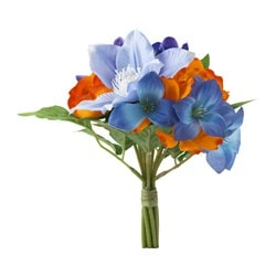 SMYCKA artificial flower, bouquet, blue Height: 30 cm