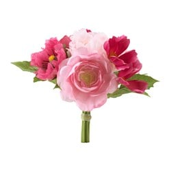 "SMYCKA artificial flower, bouguet, pink Height: 11 ¾ "" Height: 30 cm"