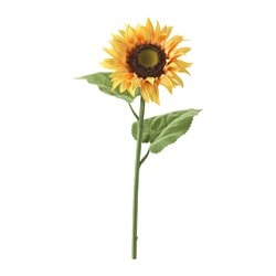SMYCKA artificial flower, sunflower, yellow Height: 74 cm