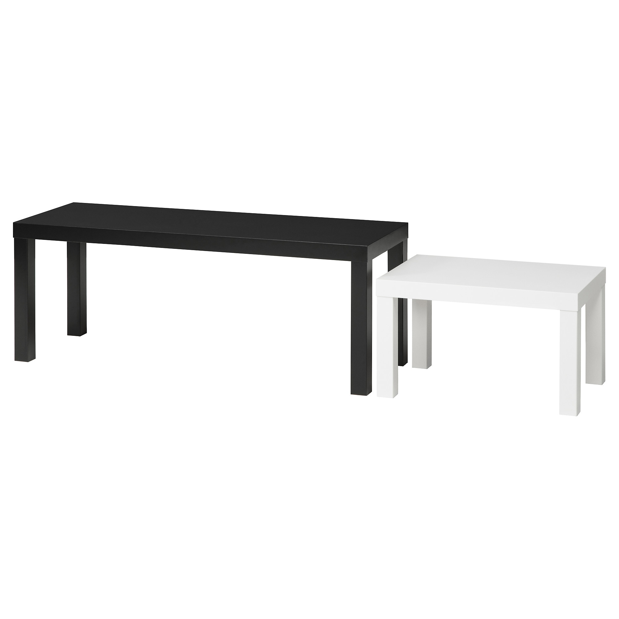 LACK Nesting tables set of 2 black white IKEA