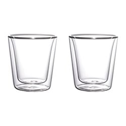 INARBETAD double walled glass Height: 9 cm Volume: 20 cl Package quantity: 2 pack
