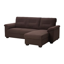 KNISLINGE, Sectional, 3 seat right, Samsta dark brown