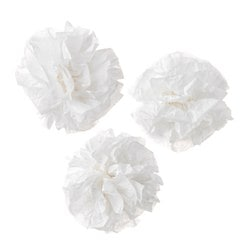 "VISIONÄR hanging decoration, white Diameter: 7 ½ "" Package quantity: 3 pack Diameter: 19 cm Package quantity: 3 pack"