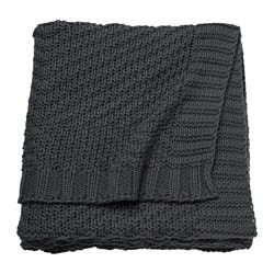 JENNYANN throw, dark grey