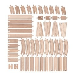 LILLABO, 50-piece track set