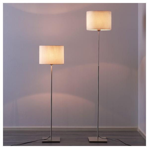 Floor Lamp With Led Bulb AlÄng Nickel Plated White