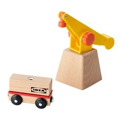 LILLABO, 3-piece crane and wagon set
