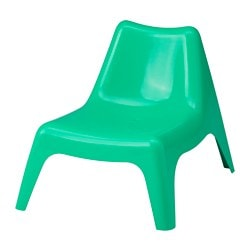 BUNSÖ children's easy chair, outdoor, green Width: 51 cm Depth: 63 cm Height: 49 cm