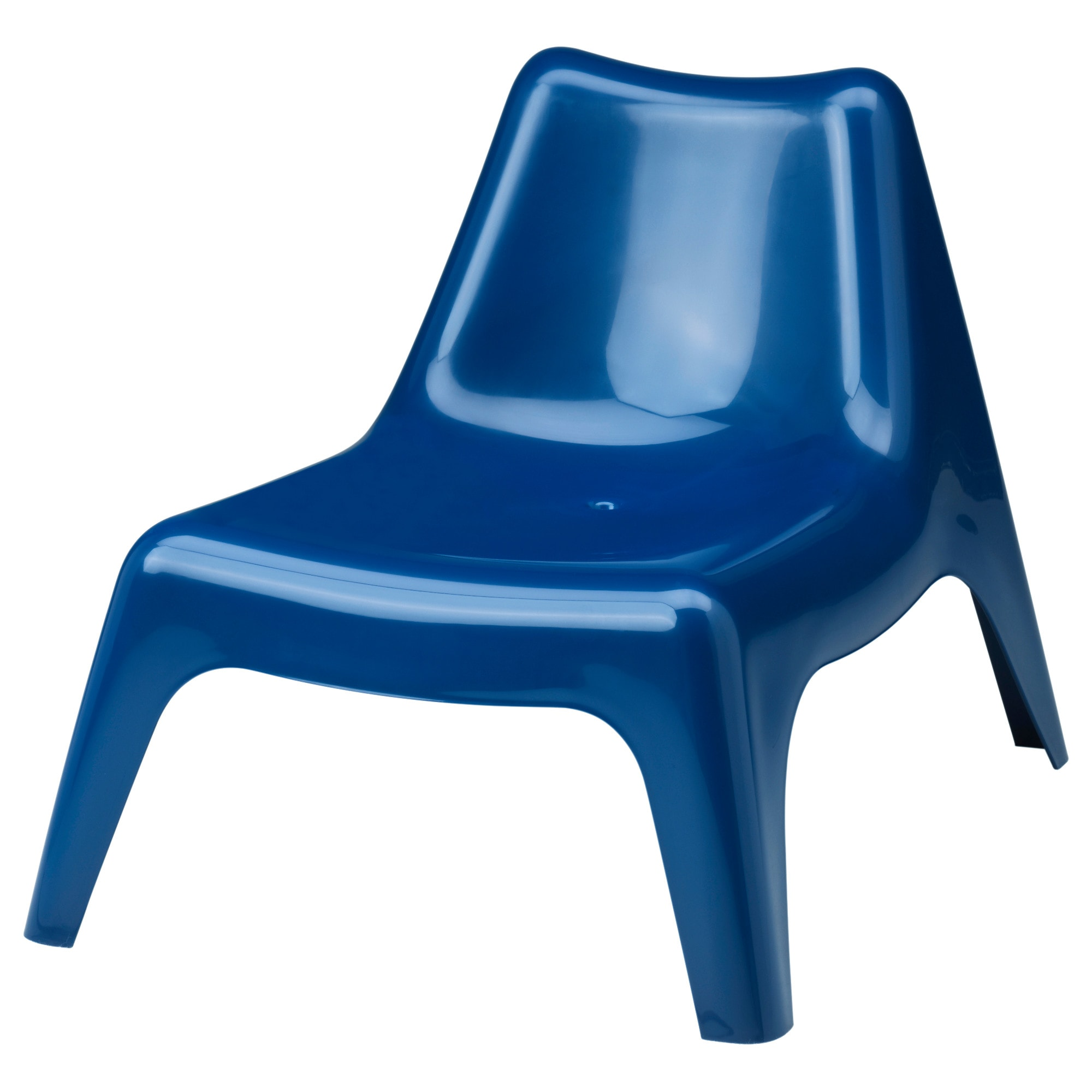 IKEA PS VÅGÖ Easy Chair, Outdoor, Yellow Dark Blue Width: 74 Cm Depth