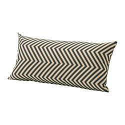 GRENÖ, Cushion, outdoor, dark blue, beige