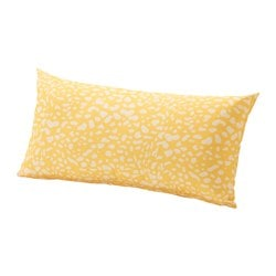 GRENÖ cushion, outdoor, yellow, white Width: 59 cm Depth: 30 cm Thickness: 15 cm