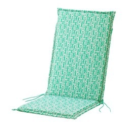 NÄSTÖN seat/back pad, outdoor, green Length: 116 cm Width: 47 cm Back height: 68 cm