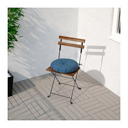 Beau TÄRNÖ Chair, Outdoor, Acacia Foldable Black, Gray Brown Stained Steel