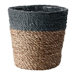 "KRUSBÄR plant pot, gray, natural Height: 13 ¾ "" Outside diameter: 13 ¾ "" Max. diameter inner pot: 12 ½ "" Height: 35 cm Outside diameter: 35 cm Max. diameter inner pot: 32 cm"