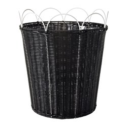 SOLROSFRÖ plant pot, in/outdoor black/white Outside diameter: 37 cm Max. diameter flowerpot: 32 cm Height: 42 cm