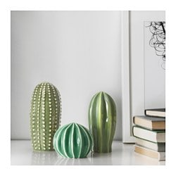 SJÄLSLIGT decoration, set of 3, green