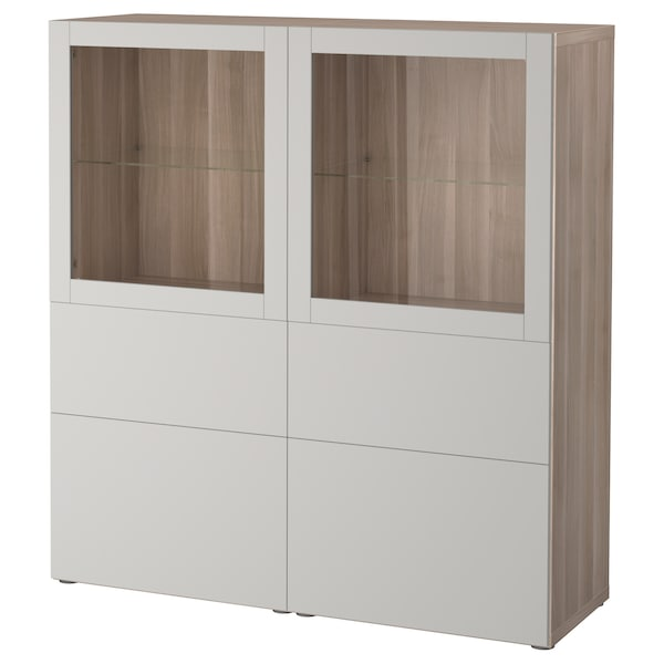 best vitrine grau las nussbaumnachb lappviken klarglas h 39 grau ikea. Black Bedroom Furniture Sets. Home Design Ideas