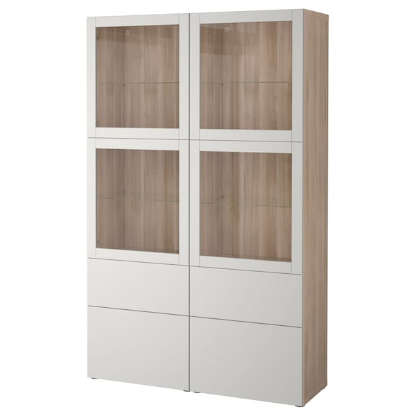 best vitrine grau las nussbaumnachb sindvik lappviken klarglas h 39 grau ikea. Black Bedroom Furniture Sets. Home Design Ideas