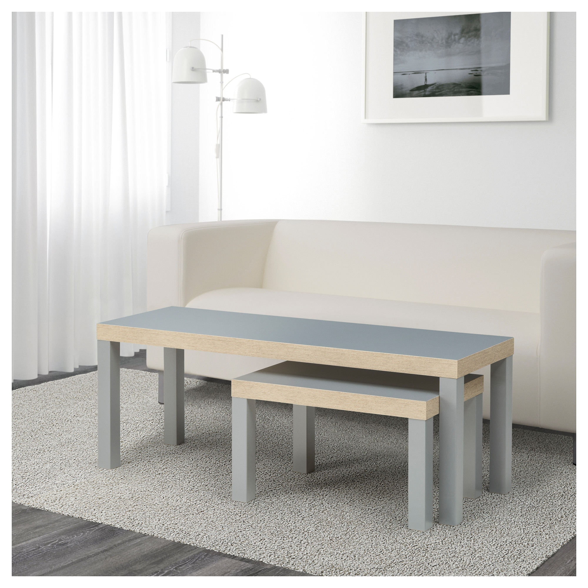 LACK Nesting tables set of 2 gray IKEA