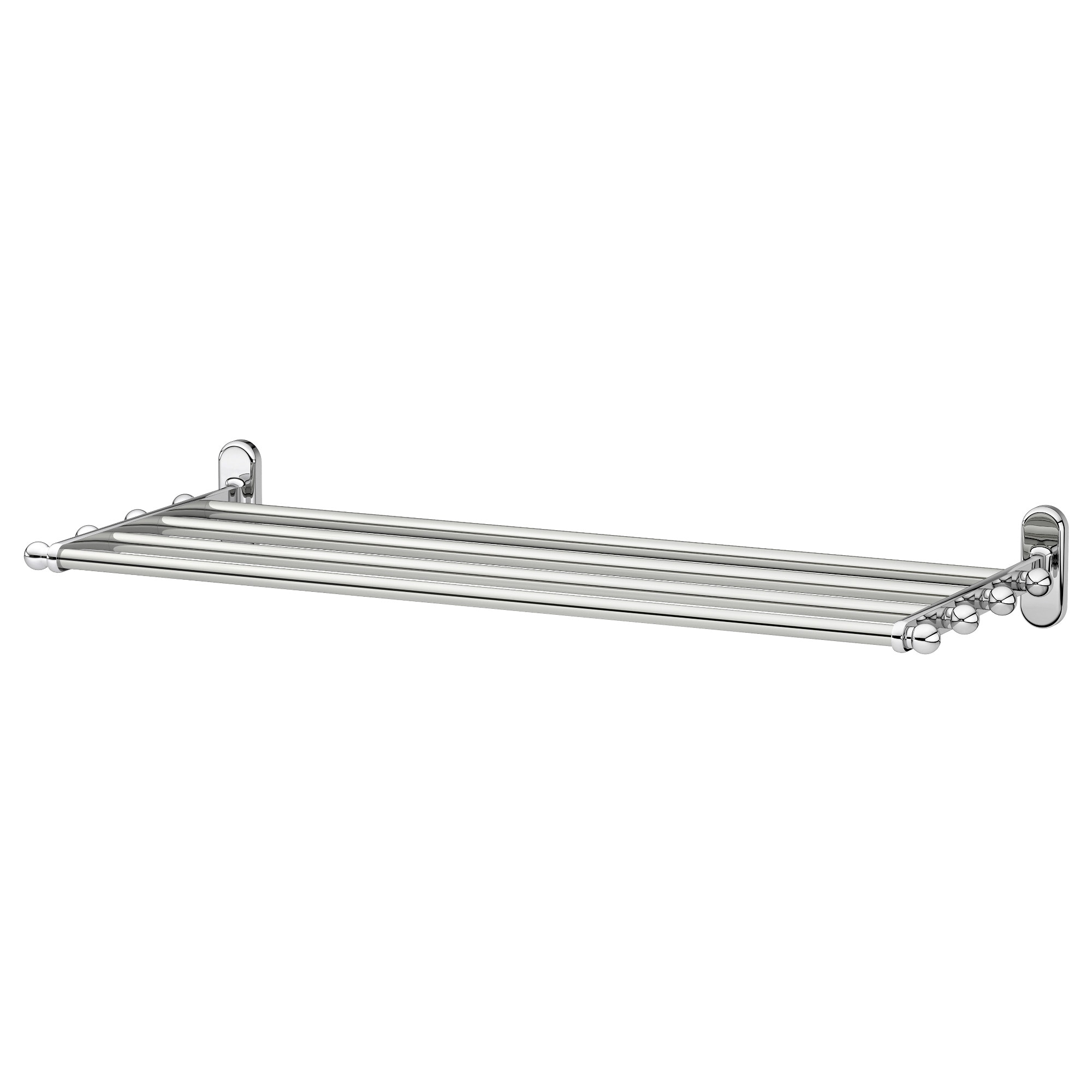 voxnan wall shelf with towel rail chrome effect width 26 58 - Bathroom Accessories Towel Rail