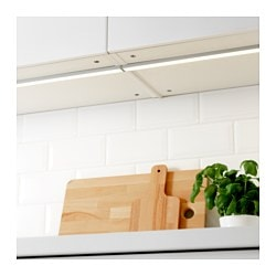 OMLOPP LED worktop lighting, aluminium-colour Luminous flux: 250 lm Length: 40 cm Depth: 2.6 cm
