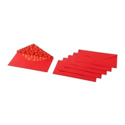 LYCKSALIG money pocket, red Length: 17 cm Package quantity: 6 pieces