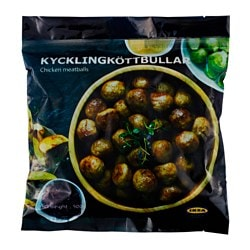 KYCKLINGKÖTTBULLAR chicken meatballs, frozen Net weight: 500 g