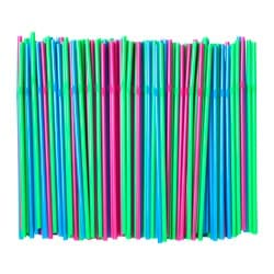 SODA drinking straw, green, bright blue/bright pink Package quantity: 200 pieces