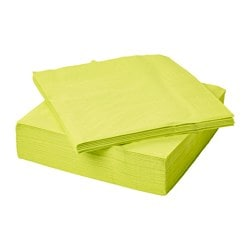 FANTASTISK paper napkin, light green Length: 40 cm Width: 40 cm Package quantity: 50 pack