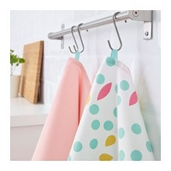 UDDIG, Dish towel, light pink, dotted