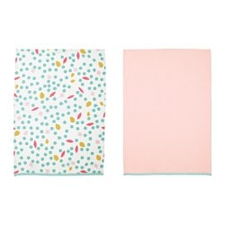 UDDIG tea towel, light pink, dotted Length: 70 cm Width: 50 cm Package quantity: 2 pack