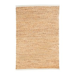 KYSING rug, flatwoven, water hyacinth, white Length: 114 cm Width: 76 cm Area: 0.87 m²