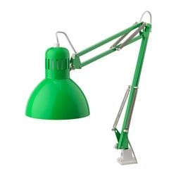 TERTIAL work lamp with LED bulb, green