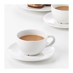 Vardagen Coffee Cup And Saucer Off White