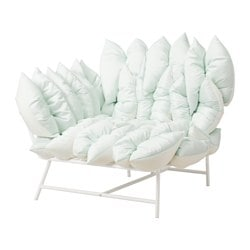 IKEA PS 2017 corner easy chair with 18 cushions, white, off-white