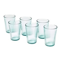 KALLNA glass, green Height: 11 cm Volume: 31 cl Package quantity: 6 pack
